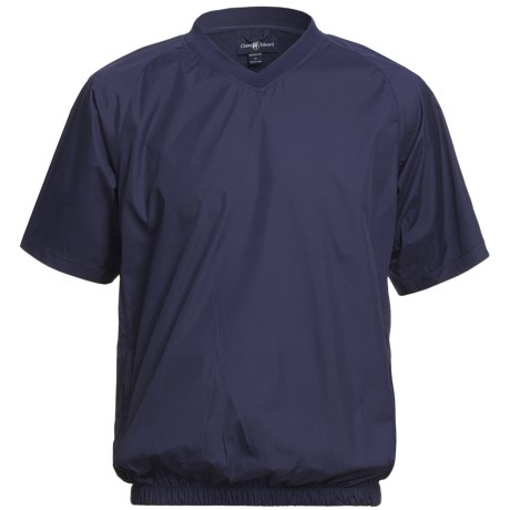 Chase Edward Woven Wind Pullover - Short Sleeve (For Men) in Navy