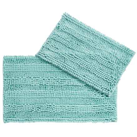 CHD Home Atlanta Chenille Bath Rugs - Set of 2 in Blue - Closeouts