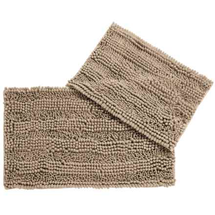 CHD Home Atlanta Chenille Bath Rugs - Set of 2 in Taupe - Closeouts