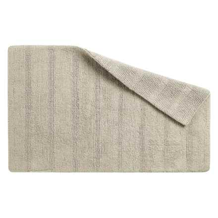 "CHD Home Bahia Cotton Bath Rug - Reversible, 21x32"" in Taupe - Overstock"