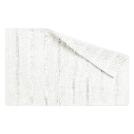 """CHD Home Bahia Cotton Bath Rug - Reversible, 21x32"""" in White"""