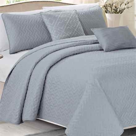 CHD Home Brampton Quilt Set - King, 5-Piece in Grey - Closeouts