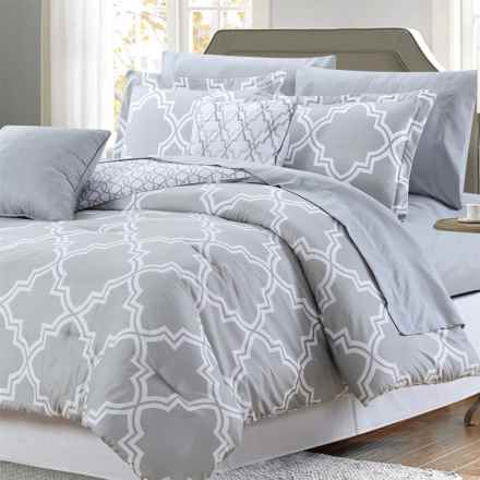 CHD Home Chatham Comforter Set - Queen, 9-Piece in Grey - Closeouts