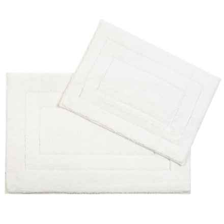 "CHD Home Chelsea Bath Rug Set - 17x24"", 21x32"" in Ivory - Closeouts"