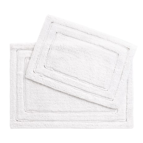 CHD Home Gardena Bath Rugs - Set of 2 in White