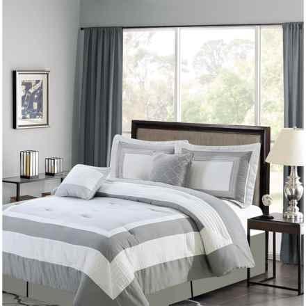 CHD Home Landon Collection Comforter Set - Queen, 5-Piece in Grey - Overstock