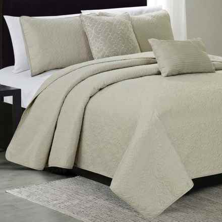 CHD Home Lenox Collection Quilt Set - King, 5-Piece in Linen - Overstock