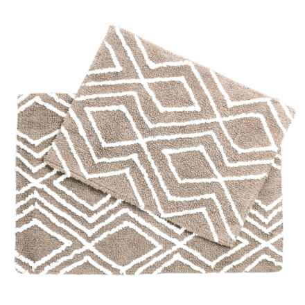 CHD Home Lima Collection Bath Rugs - Set of 2 in Taupe/White - Overstock