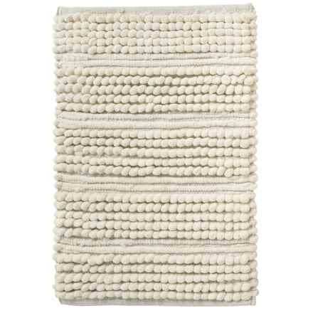 "CHD Home Santana Striped Chenille Bath Rug - 17x24"" in Ivory - Closeouts"