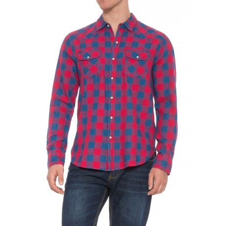 Image of Check 2-Pocket Ranch Shirt - Snap Front, Long Sleeve (For Men)