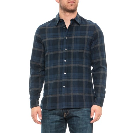 Image of Check Plaid Flannel Shirt - Long Sleeve (For Men)
