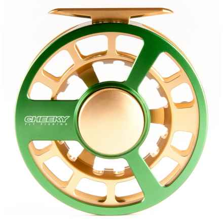 Cheeky Fly Fishing Ambush 375 Fly Reel in Green/Gold - Closeouts
