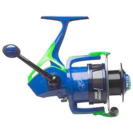 Cheeky Fly Fishing Cydro 5500 Spinning Reel in Blue/Green/Black - Closeouts
