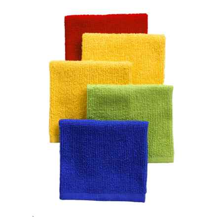 Chef's Essentials Bar Mop Dishcloths - Set of 5 in Primary - Closeouts