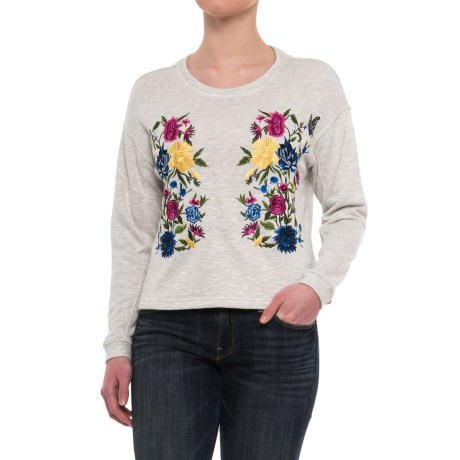 Chelsea and Theodore Embroidered Sweatshirt (For Women)