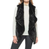 Chelsea & Theodore Faux-Fur Vest - Crossover Front, Knit Back (For Women)