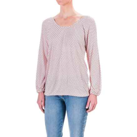 Chelsea & Theodore Mini-Dot Shirt - Rayon, 3/4 Sleeve (For Women) in Dolce Peach/Black - Closeouts