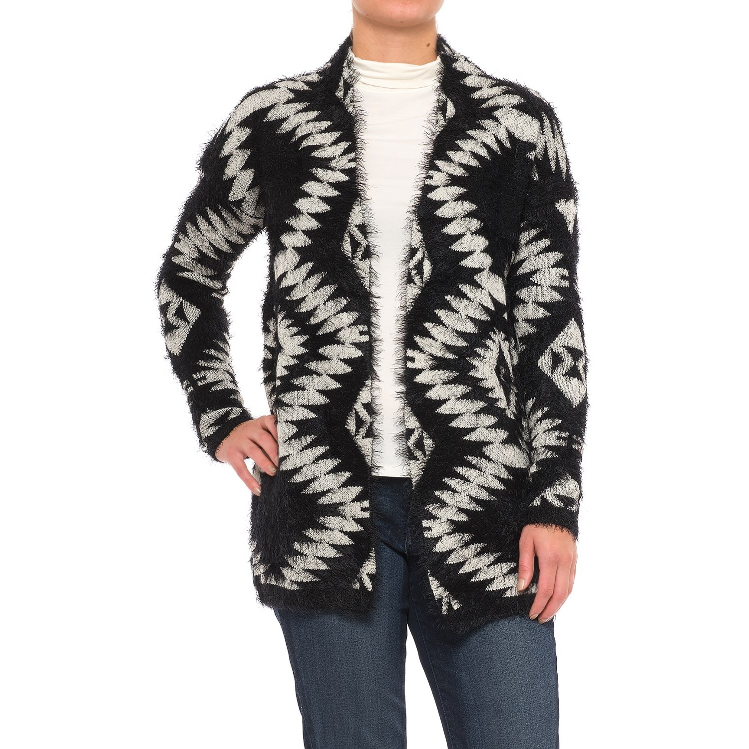 Chelsea & Theodore Open Front Cardigan Sweater (For Women) - Save 67%