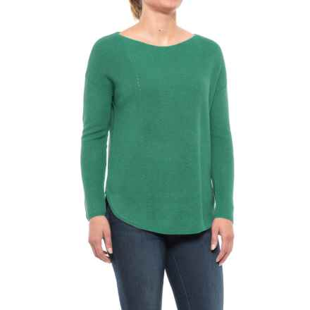 Chelsea & Theodore Pointelle Detail Sweater (For Women) in Jadeiete - Closeouts