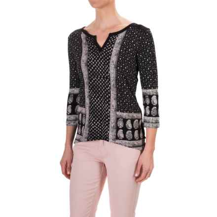 Chelsea & Theodore Printed Jersey Shirt - Cotton-Modal, 3/4 Sleeve (For Women) in Print - Closeouts