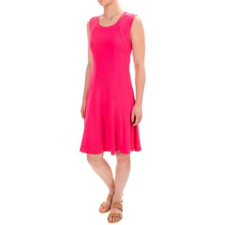 Chelsea & Theodore Stretch Flared Dress - Sleeveless (For Women) in Raspberry Ribbon - Closeouts