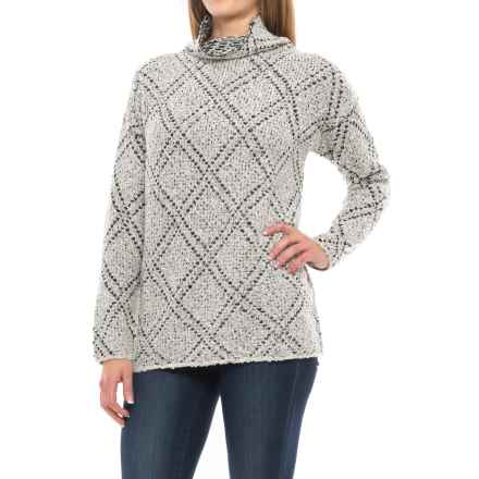 Chelsea & Theodore Turtleneck Sweater (For Women) in Grey/Black - Closeouts