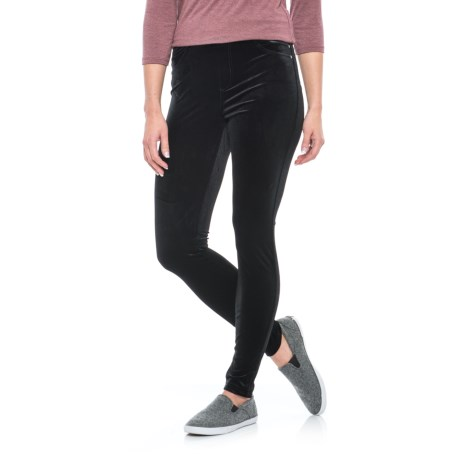 Chelsea & Theodore Velvet Leggings (For Women)