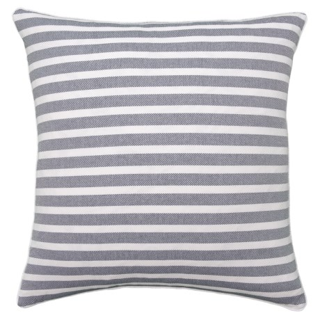 Image of Cherry Stripe Navy Throw Pillow - 22x22? Feather Fill