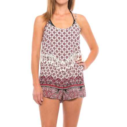 Cherrylane Lace Trim Jumpsuit - Sleeveless (For Women) in Red/White Print - Closeouts