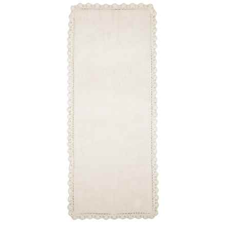 Chesapeake Crochet Edge Floor Runner in Ivory - Closeouts