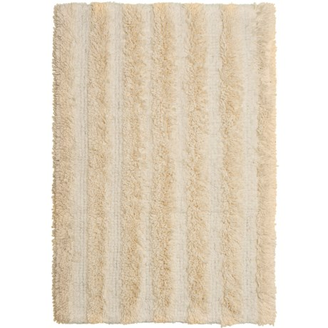 "Chesapeake Stripe Bath Rug - Reversible, 30x50"" in Ivory"