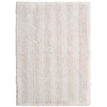 "Chesapeake Stripe Bath Rug - Reversible, 30x50"" in White - Closeouts"