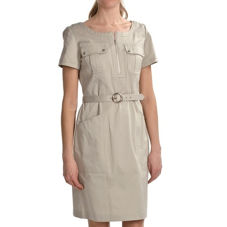 Chetta B Cotton Poplin Shirt Dress - Short Sleeve (For Women)
