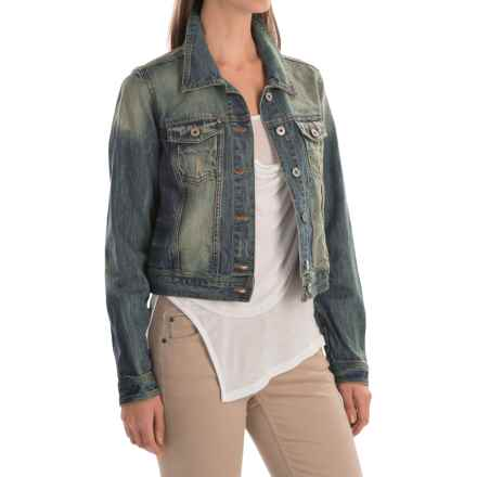 Chetta B Distressed Wash Jacket (For Women) in Denim - Closeouts
