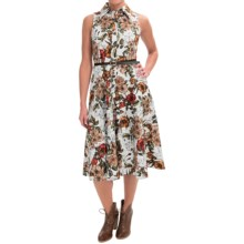 Chetta B Fit & Flare Floral Dress - Sleeveless (For Women) in Ivory Luggage - Closeouts