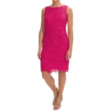 Chetta B Floral Lace Sheath Dress - Sleeveless (For Women) in Fruit Punch - Closeouts