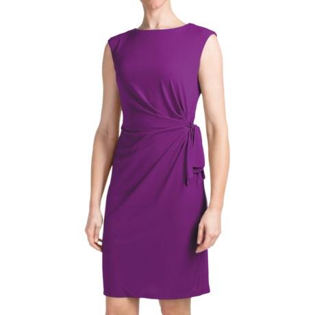 Chetta B Ity Side Drape Dress - Sleeveless (For Women) in Magenta