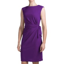 Chetta B Ity Side Drape Dress - Sleeveless (For Women) in Plum - Closeouts