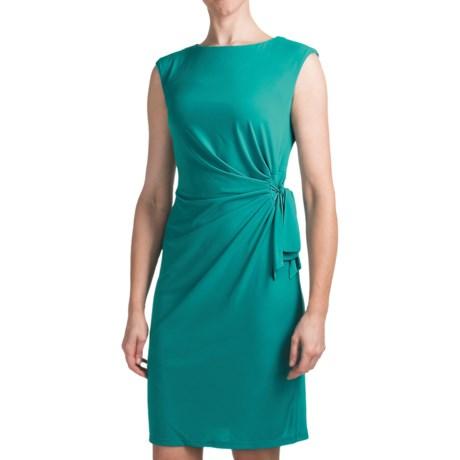 Chetta B Ity Side Drape Dress - Sleeveless (For Women) in Teal