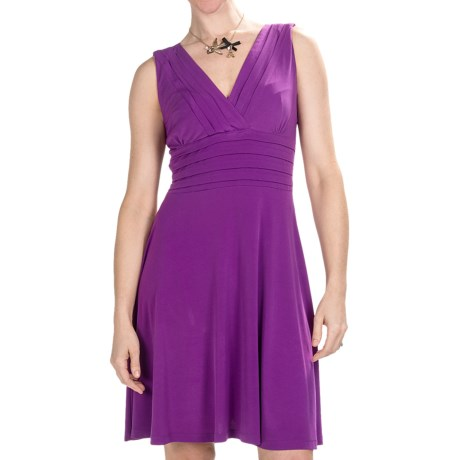 Chetta B Jersey Knit Dress - V-Neck, Sleeveless, Built-in Bra (For Women)
