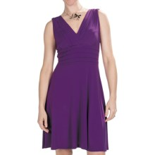 Chetta B Jersey Knit Dress - V-Neck, Sleeveless, Built-in Bra (For Women) in Plum - Closeouts