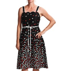 Chetta B Polka-Dot Sundress - Straps (For Women) in Black/Red