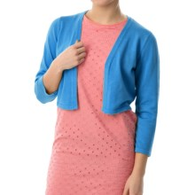 Chetta B Rayon Knit Shrug - 3/4 Sleeve (For Women) in Cobalt - Closeouts