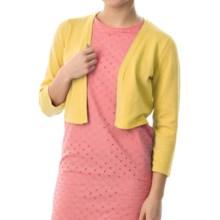 Chetta B Rayon Knit Shrug - 3/4 Sleeve (For Women) in Daffodil - Closeouts