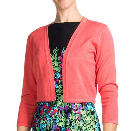 Chetta B Rayon Shrug - 3/4 Sleeve (For Women) in Coral