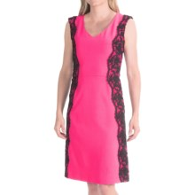 Chetta B Stretch Crepe Dress - Sleeveless (For Women) in Malibu Pink - Closeouts