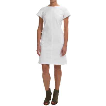 Chetta B Stretch Denim Dress - Short Sleeve (For Women) in White - Closeouts
