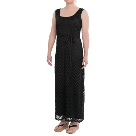 Chetta B Stretch Lace Maxi Dress - Lined, Sleeveless (For Women) in Black