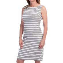 Chetta B Twill Sheath Dress - Sleeveless (For Women) in Grey/White - Closeouts