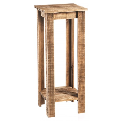 Cheung's Rattan Large Tiered Wooden Plant Stand in Brown